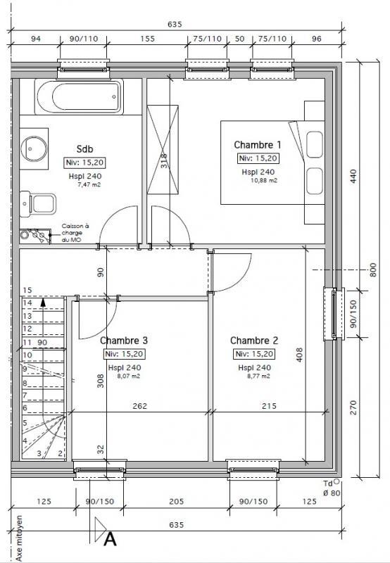 Plan Maison Foyer Central : Axe construction